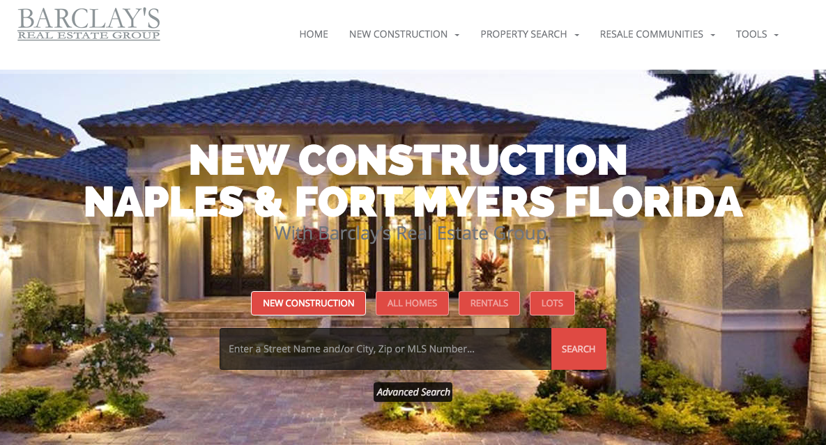 Barclays New Construction Website